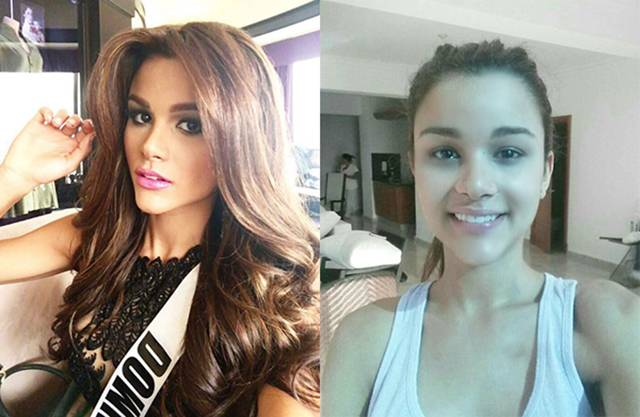 Even Gorgeous Miss Universe Contestants Look Better with Makeup