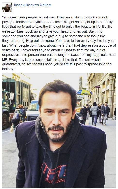 Keanu Reeves Shares Some Profound Life Advice That Everyone Should Take to Heart