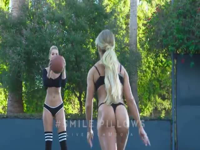 Sexy Girls Play a Game of Basketball in Their Underwear