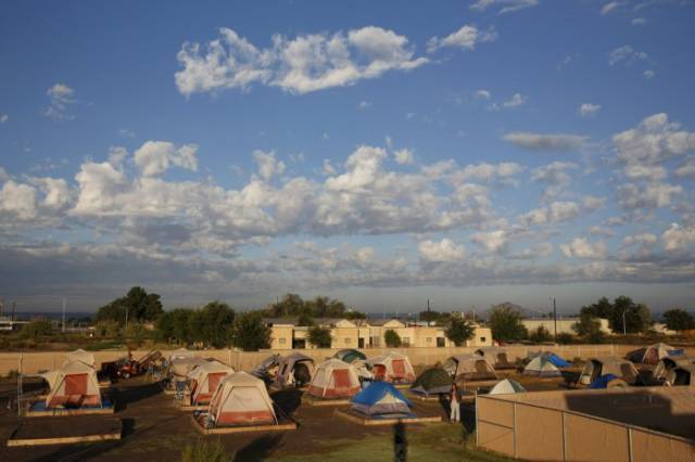 In Arizona the Homeless People Live in a City of Tents