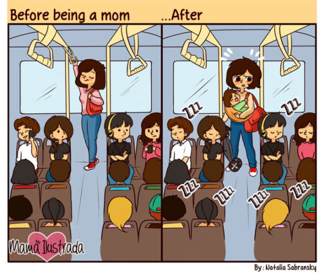 Creative Cartoons That Give Everyone a Glimpse into the Daily Life of Motherhood