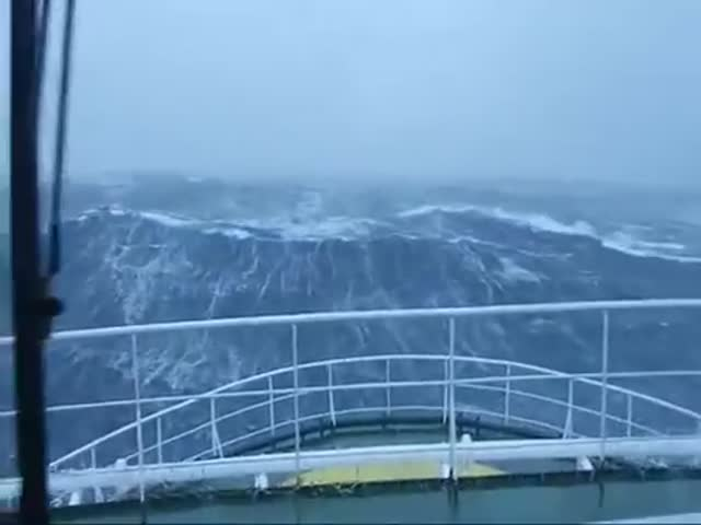 You Don't Want to be Caught Out at Sea in a Storm Like This