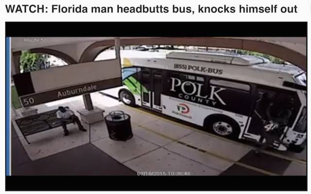 """Florida Man"" Made the News Many Times in 2015"