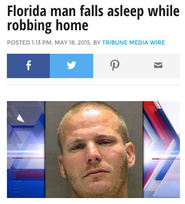 """""""Florida Man"""" Made the News Many Times in 2015"""