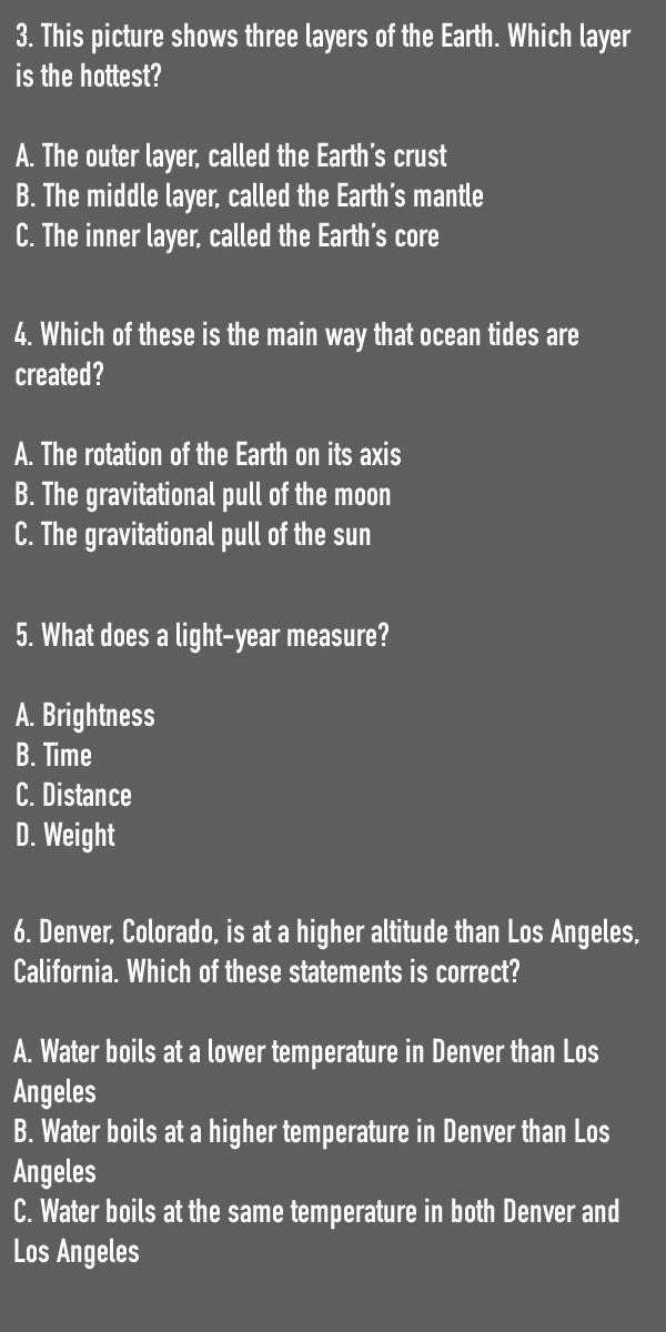 Basic Science Questions That Only 6% of Americans were Able to Answer Correctly
