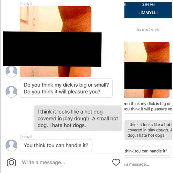Porn Star Has Hilarious Responses For Unwanted Dick Pics On Instagram