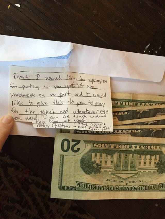 Woman Gets A Nice Surprise After Leaving A Note For A Stranger