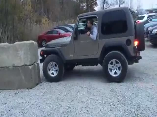 Idiot Ruins His Jeep Trying To Take A Cool Picture