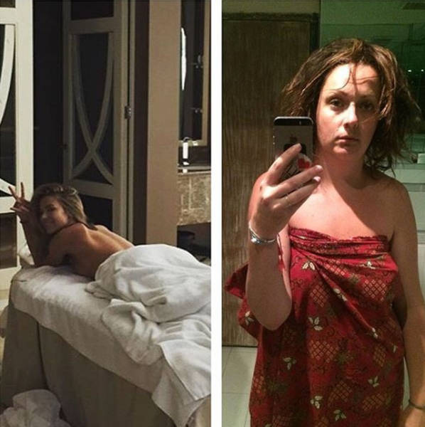 A Normal Woman Recreates Celebrity Photos to Show Just How Stupid They Actually Look in Real Life