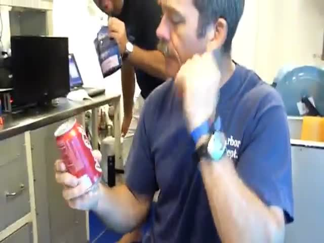 Canadian Astronaut Demonstrates Pressure Using a Cool Soda Can Analogy