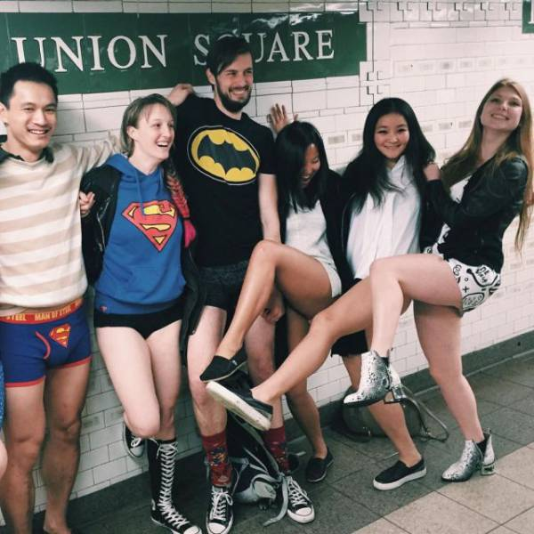 "The ""No Pants Subway Ride"" Is Back for Another Year"