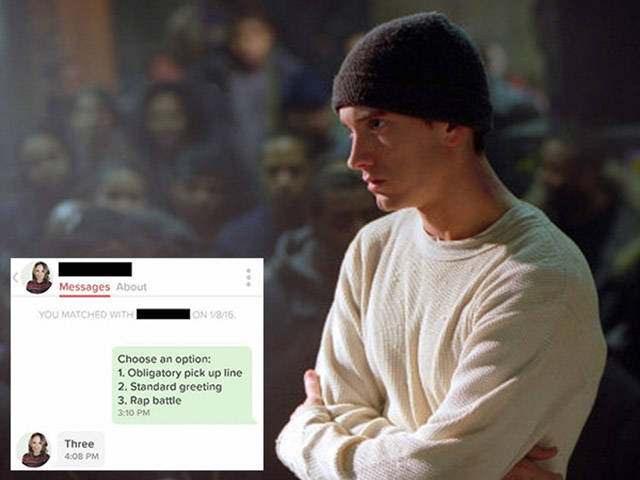 Tinder Match-up Challenge One another to a Rap Battle via Text Message and You Should See What Happened