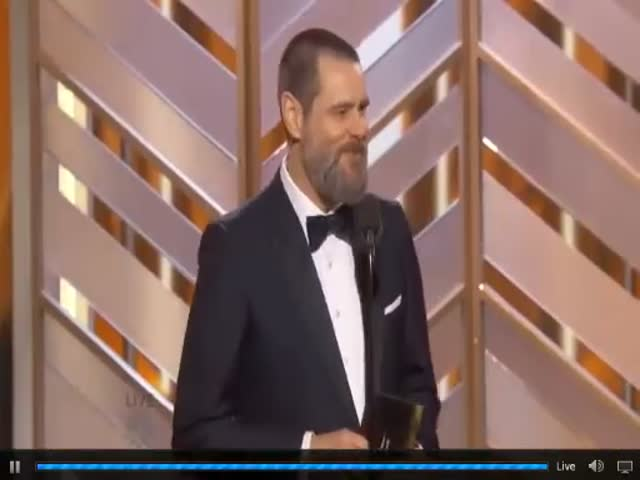 Jim Carrey's Amusing 2016 Golden Globe Speech