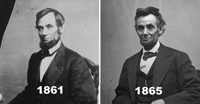 Comparison Pics of Presidents Before and After Their Terms