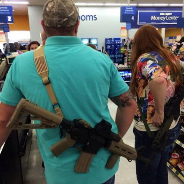 In Texas People Take Their Guns Everywhere with Them