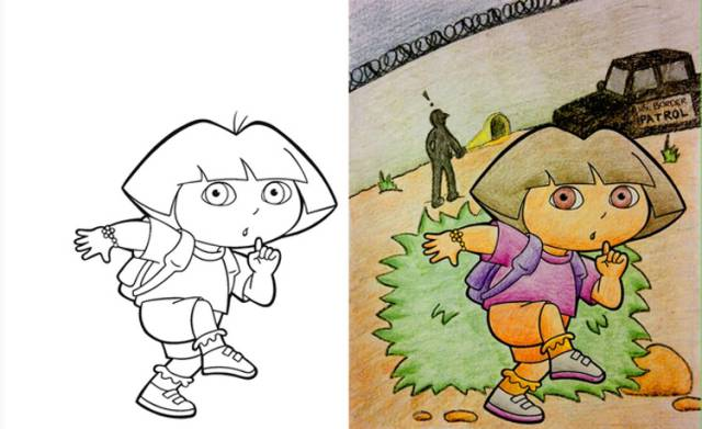 Sweet Coloring Book Pictures Take a Turn for the Worse