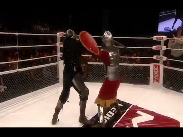 MMA Fighting in Medieval Knight Costumes Is the Most Epic Combination Ever