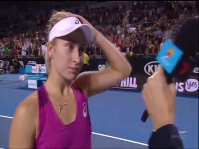 Awkward Blooper by Daria Gavrilova at Australia's Open