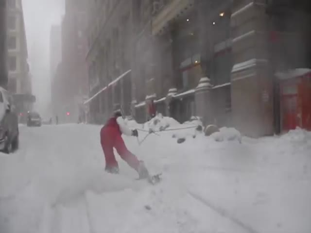 Snowy New York Is the Perfect Place for Snowboarding