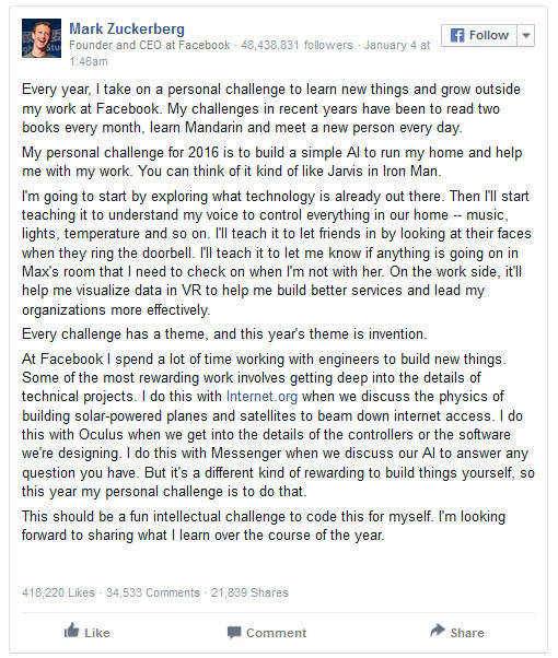Mark Zuckerberg Gives a Valuable Advice on Facebook to One of the Users