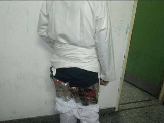 Saudi Tried to Smuggle Liquor in His Pants