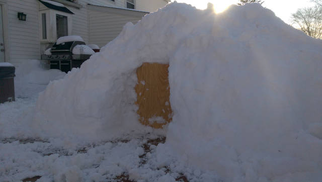 When Blizzard Strikes It Is a Good Opportunity to Build a Cozy Igloo