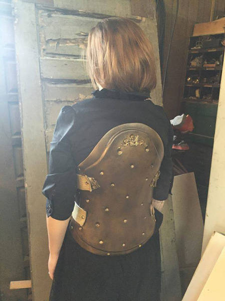 Medical Back Brace Turned into a Piece of Steampunk Armor