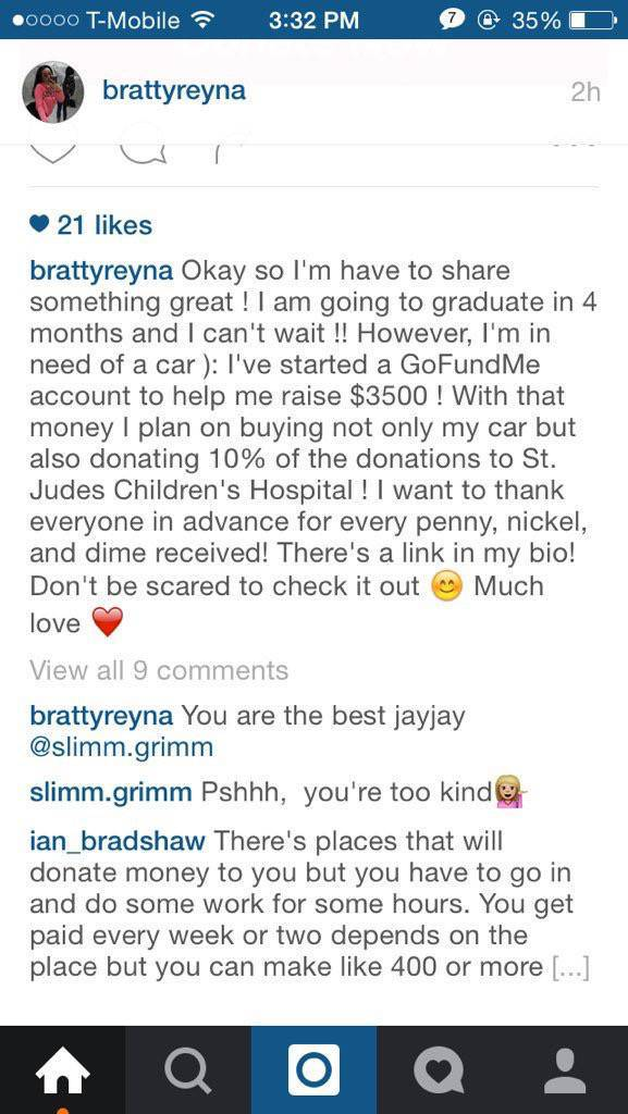 This Bratty Girl Actually Thought it was a Good Idea to Start GoFundMe to Help Pay for Her New Car