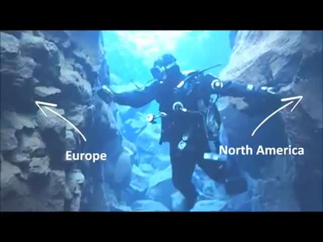 In Iceland You Can Dive In A Crack Between Two Continents