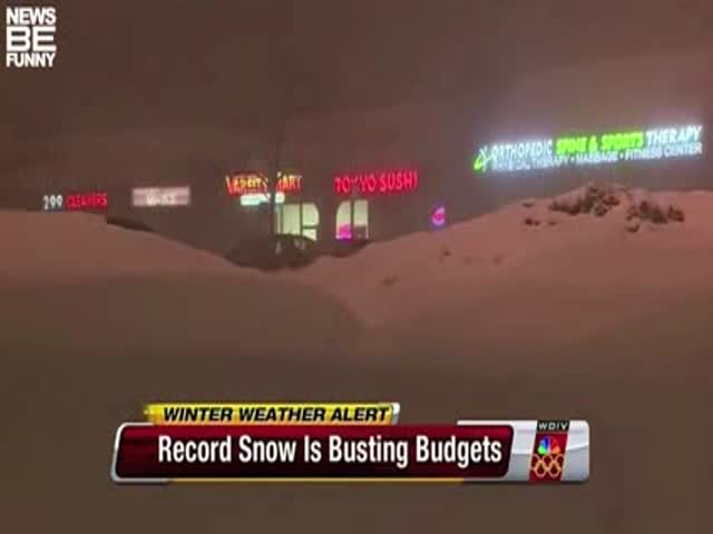 Amusing News Bloopers Caught in Snowy Conditions