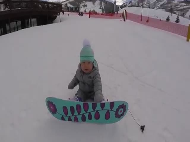 This Baby Snowboarder Is Already a Pro