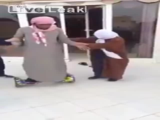 This Saudi Dad Riding a Segway Is Not a Great Combination
