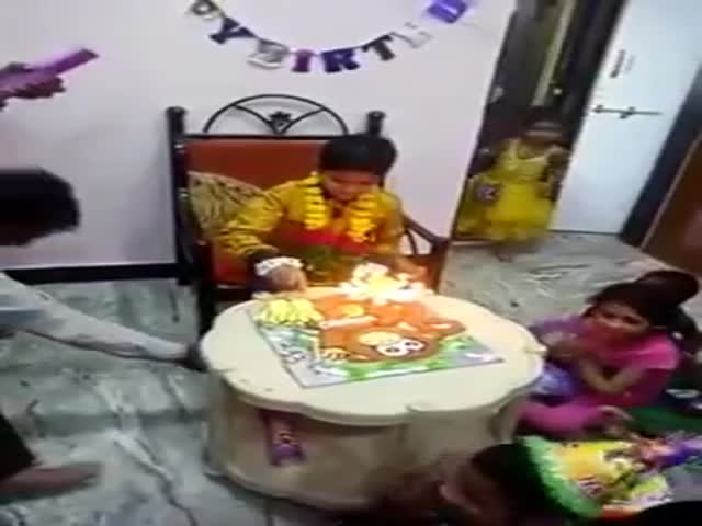 This Enthusiastic Dad Totally Ruins His Son's Birthday