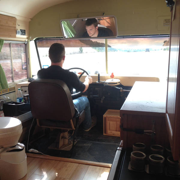 Couple Transform an Old Church Bus Is into a Snazzy Mobile Home