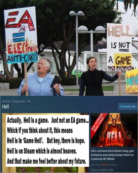 No, Ms Grundy, Hell mos def is a game.
