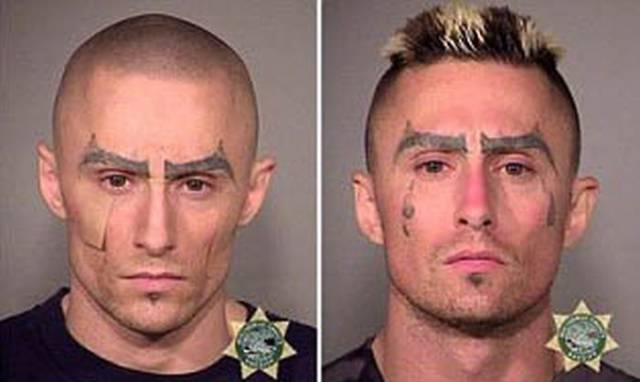 This Man's Mugshots Show His Progression into a Hardened Criminal over Time