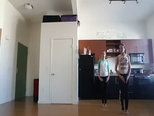 Amazing Synchronized Dancing By Two Girls