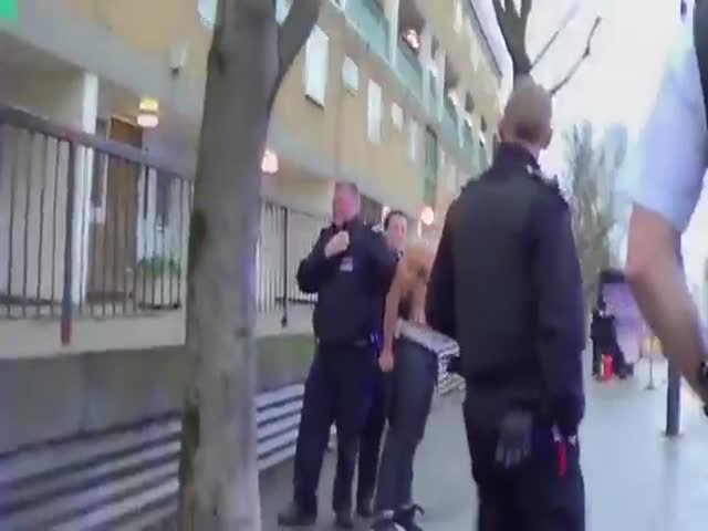 Guy Who's Being Arrested Seems a Little Bit... Pissed