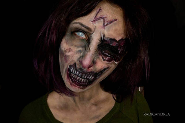 Amazing Creepy Looking Makeup