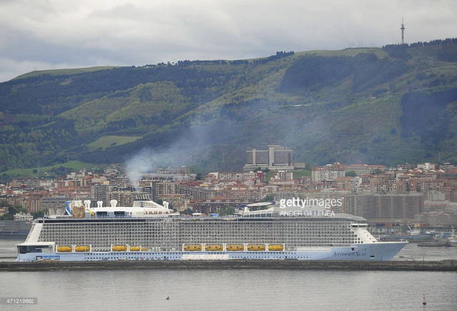 Cruise Ship After It Was Battered With Huge Waves In The Storm
