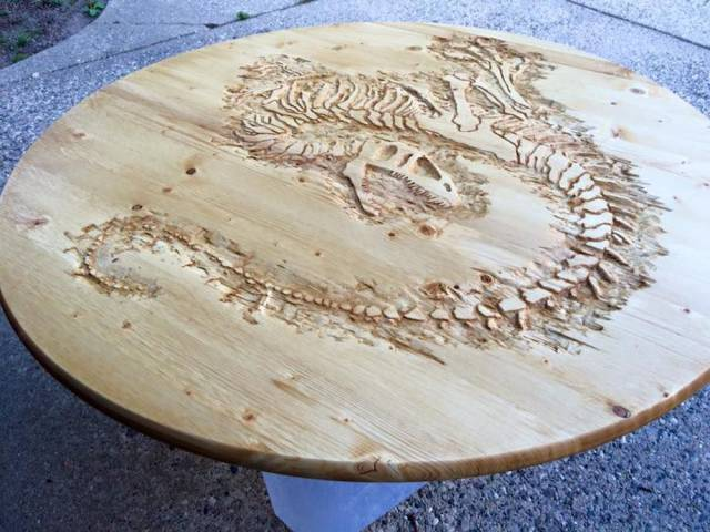 Pretty Damn Cool Velociraptor Coffee Table