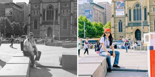 Girl Pays Tribute To Her Father By Visiting The Same Places He Did