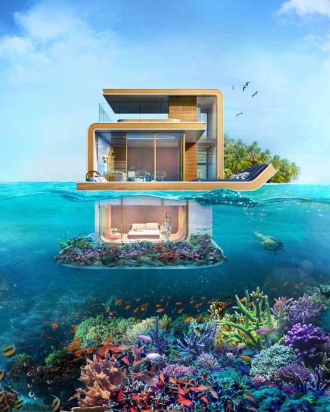 In Dubai You Can Have A House With An Underwater Room