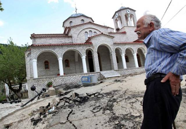 Sinking Ghost Town In Greece