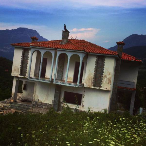 Sinking Ghost Town In Greece
