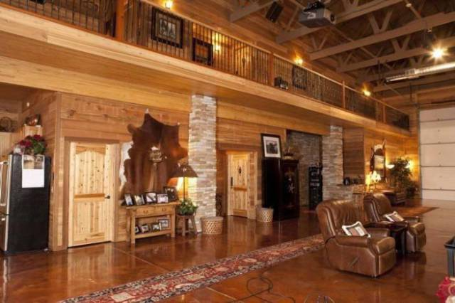 Barn Turned Into A Wicked Cool Bachelor Pad