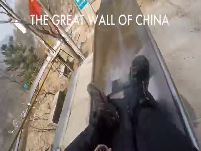Slide Down The Great Wall Of China