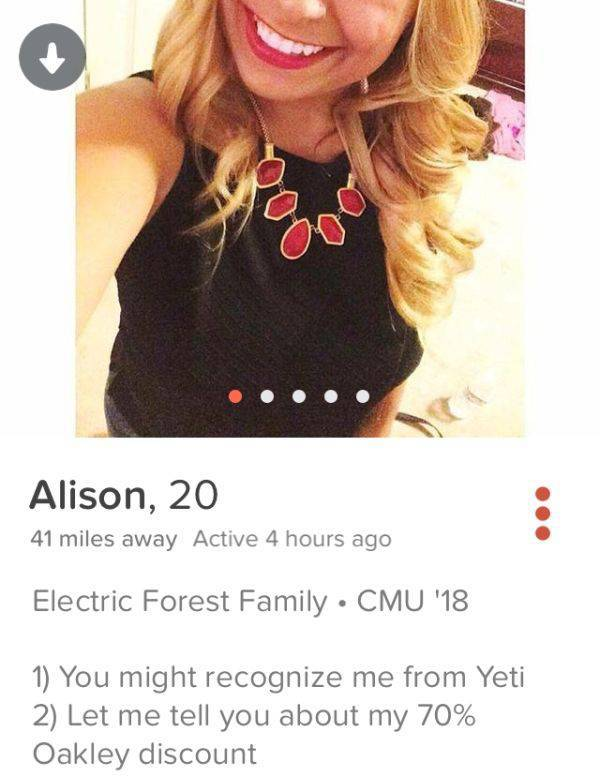 31 dirty  witty and extremely entertaining tinder profiles