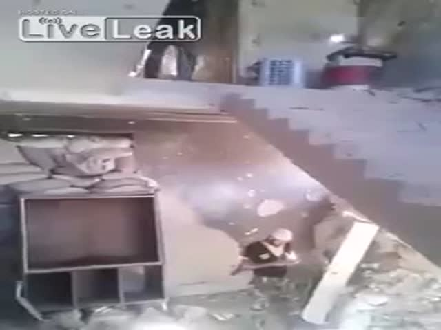 Guy Pranks His Friend With A Mortar Shell