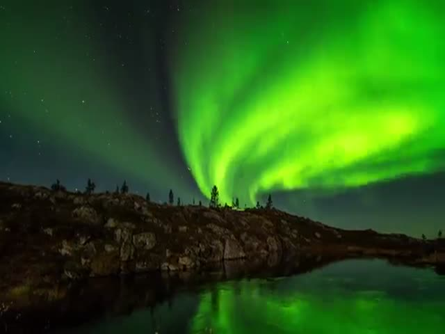 Breathtaking View Of Northern Lights In Finland